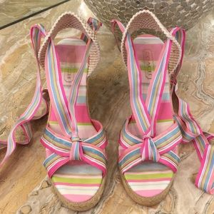 Coach wedge lace up shoes